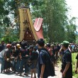 Funeral Procession Descrizione Tana Toraja — Stock Photo