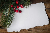 Christmas card with decorations — Stock Photo