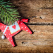 Christmas decoration on wood — Stock Photo #36628033