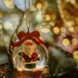 Santa Claus  in a ball, Christmas decoration — Stock Photo