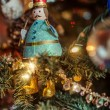 Christmas ornament on the tree — Foto Stock