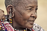 Portrait of an old Masai Woman — Stock Photo