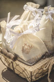 Little bags for scented lavender — Stock Photo