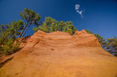 Roussillon, france: view of the   path of the ochre — Stock Photo