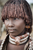 Unidentified Hamer woman, Ethiopia — Foto Stock