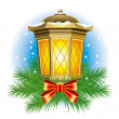 Christmas lantern — Stock Vector