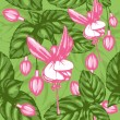 Excellent seamless pattern with fuchsia - Stock Vector