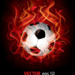 Vector fantastic soccer background — Stock Vector