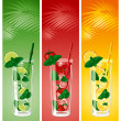 Refreshing mojito cocktails — Stock Vector #16784843