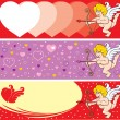 Valentine's Day Cupid — Stockvectorbeeld