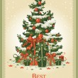 Royalty-Free Stock Imagem Vetorial: Vintage Christmas card