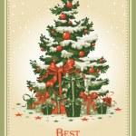 Vintage Christmas card — Stock Vector #16784941