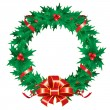Christmas wreath — Stock Vector #16785013