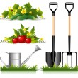 Gardening related items — Stock Vector