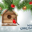 Christmas greeting card - Imagen vectorial