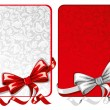 Set of bows with greeting cards - Stock Vector