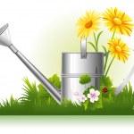 Garden watering — Stock Vector