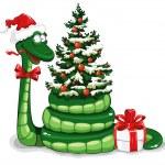 Christmas snake — Stock Vector #16785285