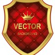 Royalty-Free Stock Imagen vectorial: Luxurious gold shield