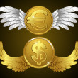 Royalty-Free Stock Vector Image: Money with wings