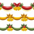 Stock Vector: Christmas garlands