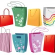 Stock Vector: Set of shopping bags