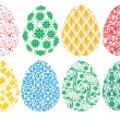ストックベクタ: Set of ornate Easter eggs