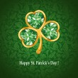 Jewelry shamrock - Stock Vector
