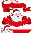 Christmas ribbon with santa claus — Stock Vector #16785511