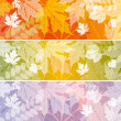 Stock Vector: Background with autumn leaves
