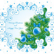 Beautiful ornate Christmas background — Stock Vector #16785629