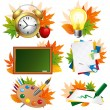 Stock Vector: School icon set