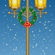 Christmas street lantern — Stock Vector