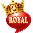 Royal speech - Stock Vector