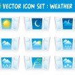 Set weather icons — Stock Vector #16785681