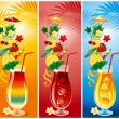 Stock Vector: Set of cocktails