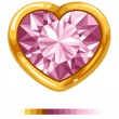 Royalty-Free Stock Vektorfiler: Diamond heart in golden frame