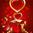 Beautiful vector background on Valentine's Day — Vettoriali Stock