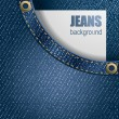 Jeans background — Vettoriali Stock