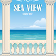 Wonderful sea view - Stock Vector