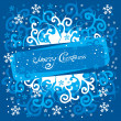 Christmass scroll Background. Vector. - Stock Vector