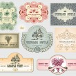 Stock Vector: Vintage label set