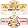 Collection of vintage labels — Stock Vector