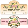 Collection of vintage labels — Imagen vectorial