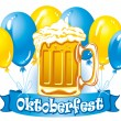 Oktoberfest beer - Stockvectorbeeld