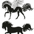 Pegasus winged Horse - Stock Vector