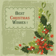 Vintage christmas card — Stockvector #16785935