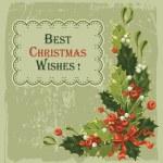 Vintage julkort — Stockvektor