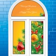 Royalty-Free Stock Vector Image: Windows Christmas