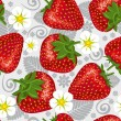 Excellent seamless pattern with strawberry — Imagen vectorial